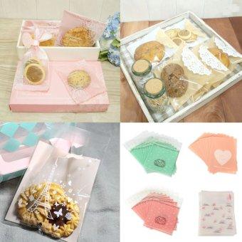 Harga 20 buah diri perekat kertas kaca kue pernikahan tas permen bungkus Kado Hadiah Natal Bisa
