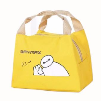 Baymax Lunch Bag Bonus 1pcs Jelly Ice Cooler / Cooler Piknik Bag / Kantong Pendingin Makanan · >>>>