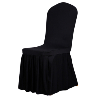 APleated Skirt Stretch coverings Hotels restaurant Coverings Wedding chair cover Banquet chair covers Coverings