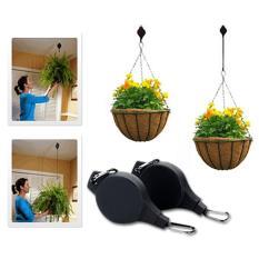 Imixlot besi taman lampu dinding bunga gantung Pot tanaman rak dudukan braket pengait - International