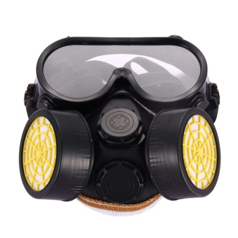 Industrial Gas Chemical Anti-Dust Spray Paint Safety Face MaskRespirator Glass - intl
