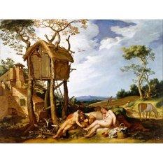 Jiekley Fine Art - Lukisan Parable of the Wheat and the Tares Karya Abraham Bloemaert - 1624