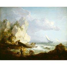 Jiekley Fine Art - Lukisan Seashore with Fishermen Karya Thomas Gainsborough - 1781-1782