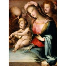 Jiekley Fine Art - Lukisan The Holy Family with Angels Karya Domenico Beccafumi - 1545-1550