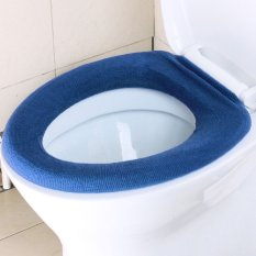 JinGle Bathroom Closestool Toilet Seat Washable Soft Top Cover Warmer Cloth (Silver)