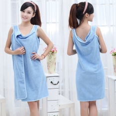 High Water Absorption Women's Wearable Bath Towel 150*85CM Bathrobe Spa Fast Dry Washclothing Wrap Towel Blue