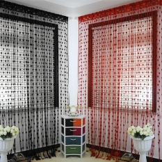 Jo.In Polyester Fiber Romantic Love Heart Door/Window Curtain Size 300*300cm 17Colors (Multicolor) - Intl