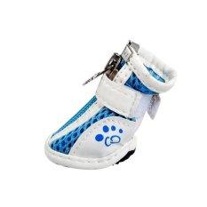 JOR Pet Mesh Sports Shoes 4pcs (Blue) - Intl