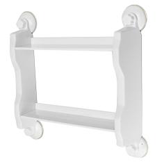 Kitchen Bathroom Shelf Suction Cup Rack Organizer Storage Shower Wall Basket - Intl
