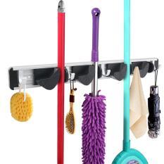 Kitchen Mop Broom Holder Wall Mounted Organizer Brush Storage Hanger Rack Tool - intl