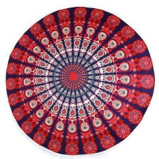 LALANG Beach Towel Indian Mandala Tapestry Wall Hanging Round Yoga Mat 1# (Intl)