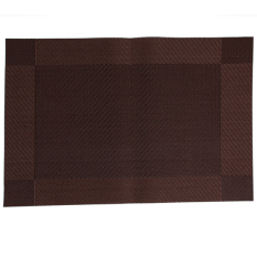 LALANG PVC Table Heat Insulation Placemat Rectangle Coffee