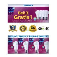 Lampu LED bohlam Philips 7w/watt (6,5w/watt) beli 3 gratis 1 Putih