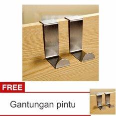 Lanjarjaya Gantungan door Hanger Pintu Tanpa Paku Set Stainless Steel barang Baju + Buy 1 Get 1 Per 4pcs/2set