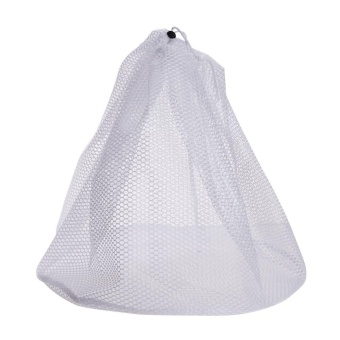 Laundry Bag Clothes Washing Net Bra Lingerie Wash(White)-L - intl