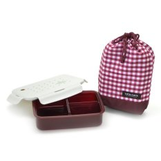Lock&Lock 1 Layer Lunch Box with Bag - Wine