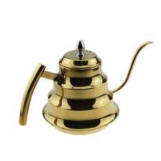 ... LT365 1 2 liter tangan Drip Kopi pot stainless steel baik mouth Teapot drip Kettle Keemasan