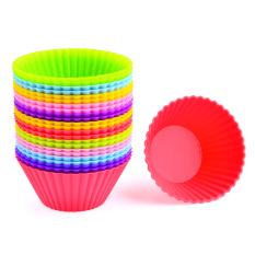 LT36.24Pcs Silicone Cake Muffin Chocolate Cupcake Liner Egg Tart Baking Cup Mold - Random Color (Intl)