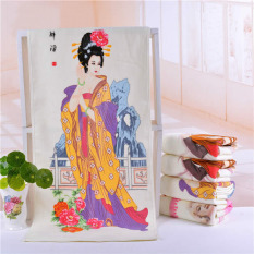 LT365 Creative Color Changing Cotton Chinese Ancient Beauty Yang Yuhuan Pattern Magic Temperature Control Towel Novelty Gift (Intl)