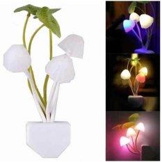 Lucky – Lampu Tidur Led Bentuk Jamur Sensor Cahaya / 1Pcs