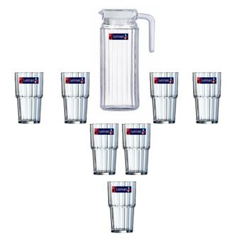 Luminarc Set Teko & Gelas Kaca Quadro Drinkset - 7 Pcs