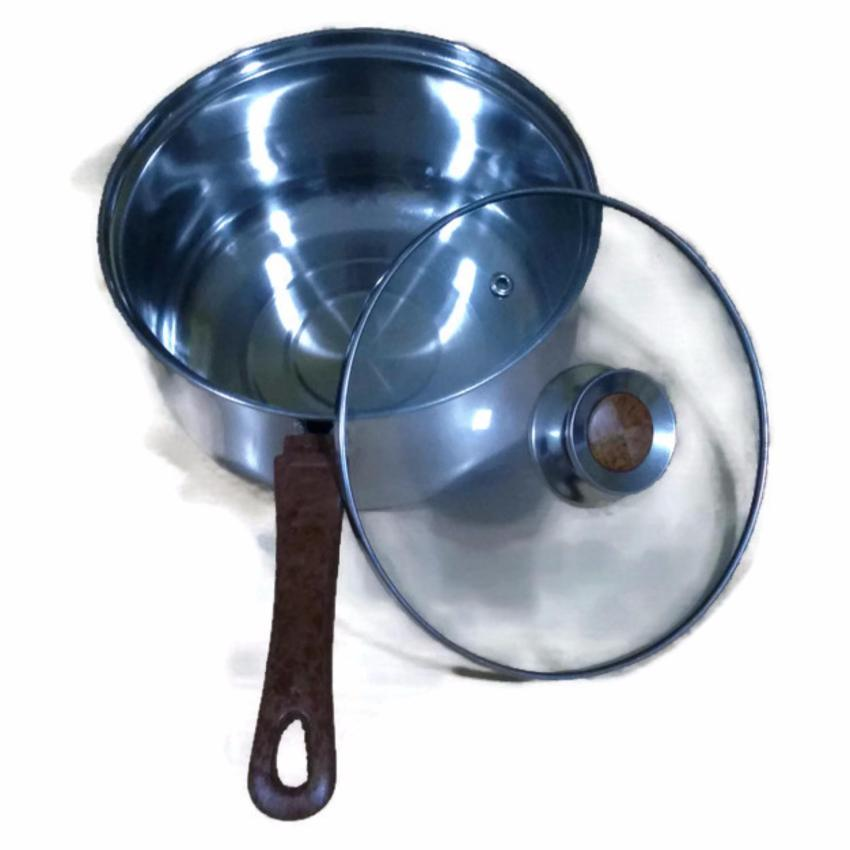 Lunai - Saucepan w/ Lid gagang kayu 16cm/Panci susu gagang kayu 16cm