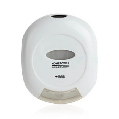 LV-001 Auto-sensing Red & Green Light LED Energy-efficient Toilet Night Light White