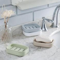 LZ 1 Pcs Thicken Drain Soap Box Plastic Creative Soap Dish Soaptray (Blue) - Intl