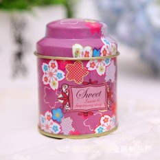 LZ 1Pcs / Lot Wholesale Butterfly Knot And Line Drawing Style Kitchentea Sugar Coffee Storage Tin Box Portable Purple