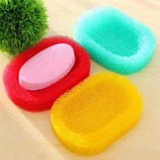 LZ 2 Pcs Creative Sponge Drain Soap Box Bathroom Soap Dish Soap Tray - Intl