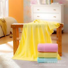 LZ 3Pcs / Lot 70*140Cm Plain Dyed Solid Bamboo Fiber Towels Soft Plainjacquard Towel Thickened Soft Retail Bath Towel Christmas Present - Intl