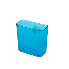 LZ Seamless Single Sucker Kitchen Strong Storage Box Can Be Draining -Blue