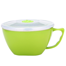 LZ Stainless Steel Lunch Box For Food Container Round Shape Portablepicnic Food Box Lunch Box M (Green) - Intl