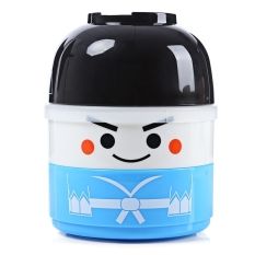 LZ Vacuum Thermal Double Layer Lovely Doll Lunch Box Warm Foodcontainer For Kids Boy (Boy) (Blue) - Intl