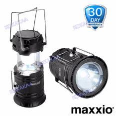 MaXxio 7700 Lampu Camping Solar Panel Led + SuperLed Flashlight - Black