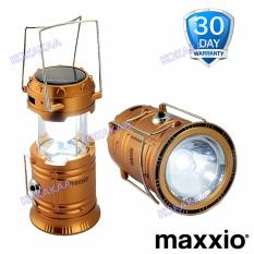 MaXxio 7700 Lampu Camping Solar Panel Led + SuperLed Flashlight - Bronze