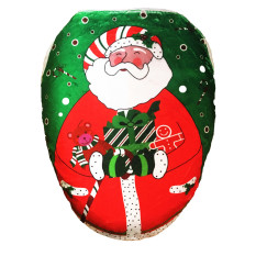 MICHAUX Fashion High Quality Non-Woven Printing Toilet Cover For The Elderly Christmas Home (Green)