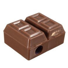 Mini Chocolate Pencil Sharpener Rubber Eraser