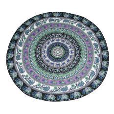 Miyifushi Mandala Round Roundie Beach Throw Tapestry Hippy Boho Gypsy Chiffon Tablecloth Beach Blanket