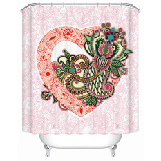 Modern Style Shower Curtains Fashion New Flowers Printed Bathroom Waterproof Fabric Shower Screen With Hooks W180CM X H180CM