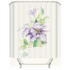 Modern Waterproof Shower Curtains Bathroom Products 100% Polyester Flower Purple Peony Bathroom Shower Curtain W180CM X H200CM