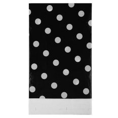 Multi Color Dots PE Catoon Table Cover For Birthday Wedding Decoration Large Size Black