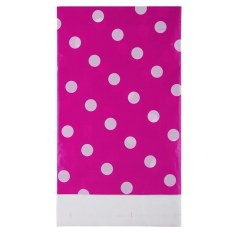Multi Color Dots PE Catoon Table Cover For Birthday Wedding Decoration Large Size Rose Red (Intl)