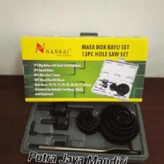 Nankai Holesaw Set Kit / Mata Bor Pelubang Kayu Set 13 Pcs