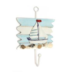 Nautical Decor Vintage Coat Bag Bath Towel Hook Holder Door Wall Mounted Hanger Sailing - Intl