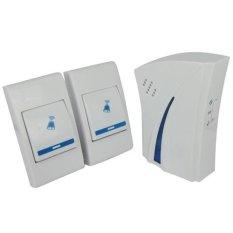 New 36 Melody Music Wireless Digital Doorbell 2 Receivers 1 Remote Button (Intl)