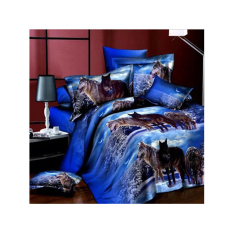 New 3D Printing Western Style 4pcs Bedding Sets Full / Queen / King Size 2 Pillowcases / Bed Linen / Duvet Cover Set