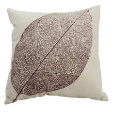 New Cotton Retro Simple Linen Pillow Case Sofa Home Throw Square Cushion Cover [Leaf]
