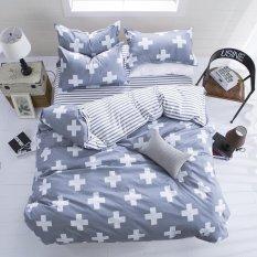 New Fashion Bedding Set 4pcs / 3pcs Duvet Cover Sets Soft Cotton Bed Linen Flat Bed Sheet Set Pillowcase Home Textile