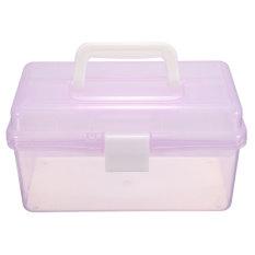 New Multi-function Plastic 2 Layer Storage Containers Case Box Organizer Tool Light Purple - Intl
